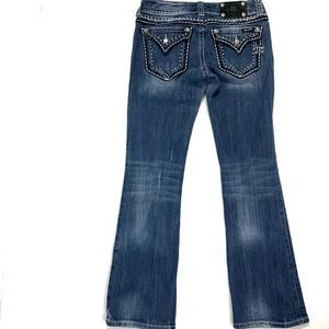 "Miss Me BootCut Jeans 29 Jeweled pockes 29"" inseam"